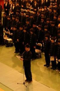 新入生代表による宣誓