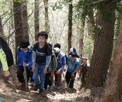 01山登り①