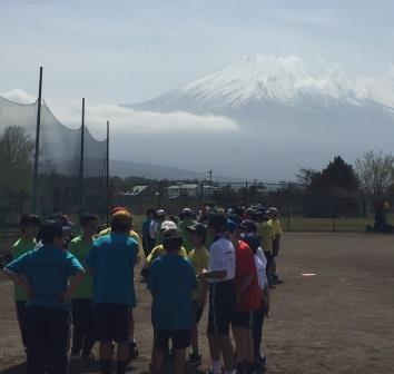 富士山をバックに①