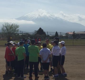 富士山をバックに②